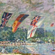 Regatta At Molesey Print by Alfred Sisley