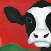 Regina The Happy Cow Art Print by Kristi L Randall