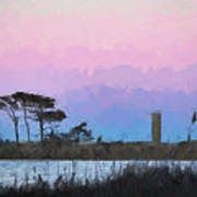 Rehoboth Beach Sunset Art Print