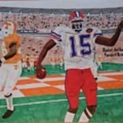 Florida - Tennessee Football Art Print
