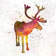 Reindeer 02 In Watercolor Art Print