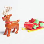 reindeer and Sleigh ii Art Print