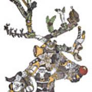 Reindeer Games Art Print by Tyler Auman