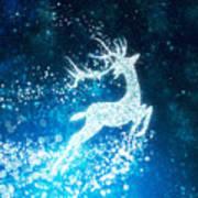 Reindeer Stars Art Print