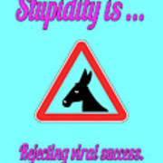 Rejecting Bigstock Donkey 171252860 Art Print