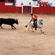 Rejoneador And The Bull, San Miguel De Allende Art Print