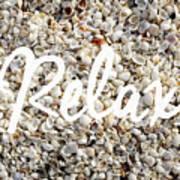 Relax Seashell Background Art Print