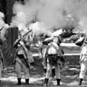 Reliving History-bw Art Print