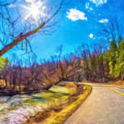Reluctant Ontario Spring 3 - Paint Art Print