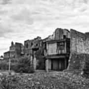 remains of st pauls school derelict building site future campus for university college Birmingham UK Art Print