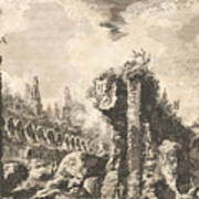Remains Of The Temple Of Castor And Pollux Art Print