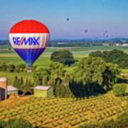 Remax Hot Air Balloon Ride Art Print