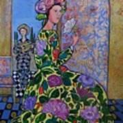 Remembering The Flower Door Print by Marilene Sawaf