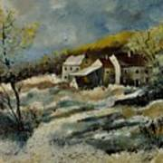 Remote Houses In The Ardennes  Art Print