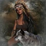 Rena Indian Warrior Princess Art Print
