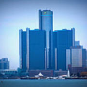 Gm Renaissance Center In Downtown Detroit, Michigan Art Print