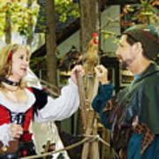 Renaissance Faire With Hen Art Print