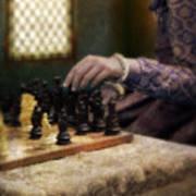 Renaissance Lady Playing Chess Art Print