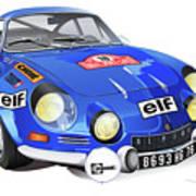 Alpine Renault A110 Art Print