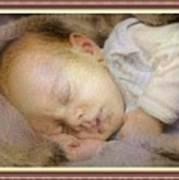 Renoircalia Catus 1 No. 2 - Adorable Baby L B With Decorative Ornate Printed Frame. Art Print