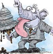 Republicans Lick Congress Art Print