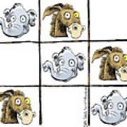 Republicans Win Tic Tac Toe Art Print