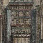 Reredos Chapel Of Aukland Castle 1884 Art Print by Dodgson Fowler