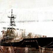 Research Vessel Atlantis In Astoria Oregon Art Print