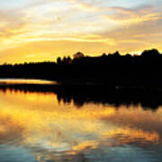 Reservoir Sunset 1 Art Print