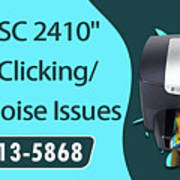 Resolve Hp Psc 2410 Scanner Clicking Grinding Noise Issues Art Print