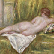 Rest After The Bath Art Print by Pierre Auguste Renoir