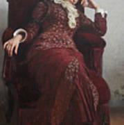 Rest. Portrait of Vera Repina, the Artist's Wife. Art Print