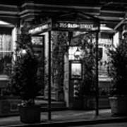 Restaurant Jeanne D'arc Bw Art Print