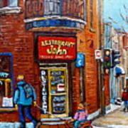 Restaurant John Montreal Art Print