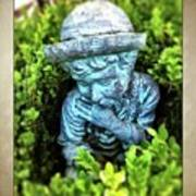 Restful Moment In The Garden Art Print