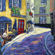 Resto Le Cochon Dingue  In Old Quebec Art Print