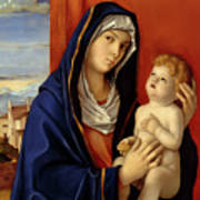 Restored Old Master Madonna And Child  Art Print