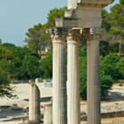 Restored Roman Columns In Glanum Art Print