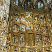 Retable - Toledo Cathedral - Toledo Spain Art Print