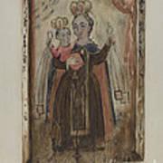 Retablo (our Lady Of Carmel) Art Print