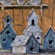 Retired Bird Houses By Prankearts Fine Arts Art Print