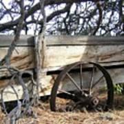 Retired Farm Wagon Art Print