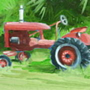 Retired Farmall Art Print