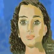 Retrato De Mi Hija M. Jose Art Print