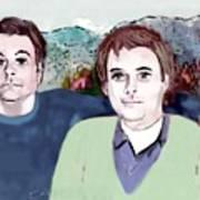 Retrato Mis Hijos Andres - Alejandro Art Print