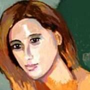 Retrato Patricia Art Print