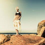 Retro Beach Fashions Art Print
