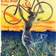 Retro Bicycle Ad 1898 Art Print