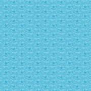 Retro Blue Pattern Art Print