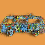 Retro Camper Van 2 Art Print